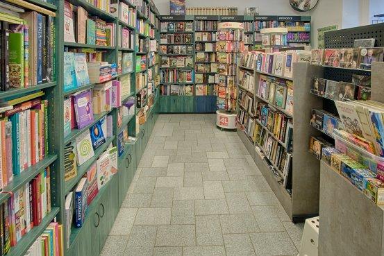Knihkupectví Cheb - interiér