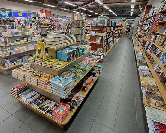 Knihkupectví Praha - Karlín - interiér