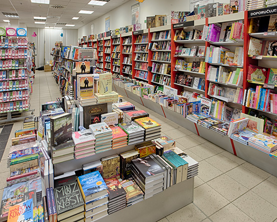 Knihkupectví Karviná - interiér