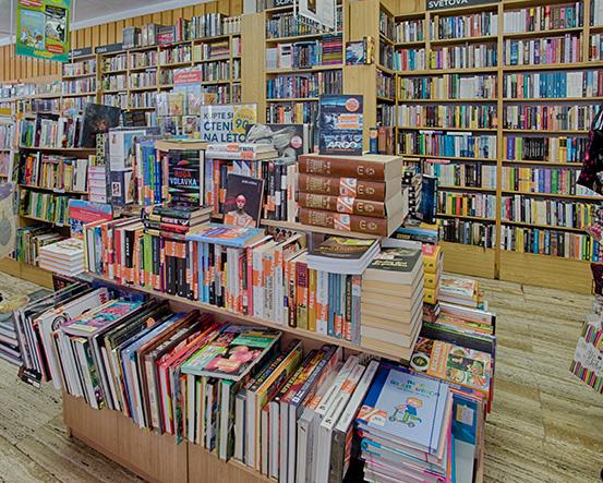 Knihkupectví Kolín - interiér