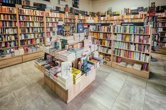 Knihkupectví Mariánské Lázně - interiér