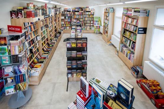 Knihkupectví Slaný - interiér