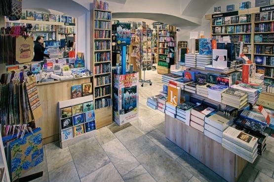 Knihkupectví Kutná Hora II. - interiér