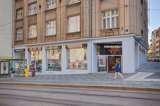 Knihkupectví Praha - Letná - exteriér