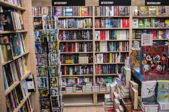 Knihkupectví Nový Bor - interiér