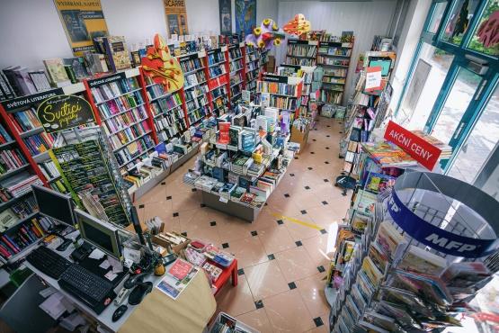 Knihkupectví Orlová - interiér