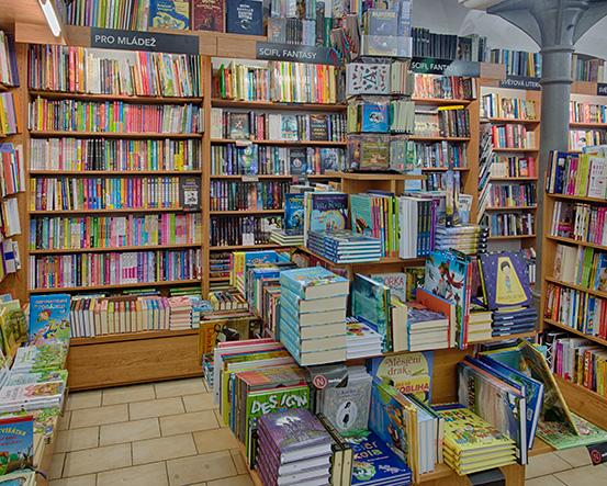 Knihkupectví Pardubice - interiér