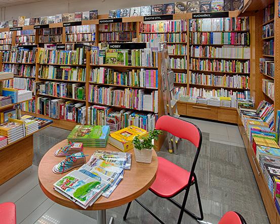 Knihkupectví Plzeň - Borská pole - interiér
