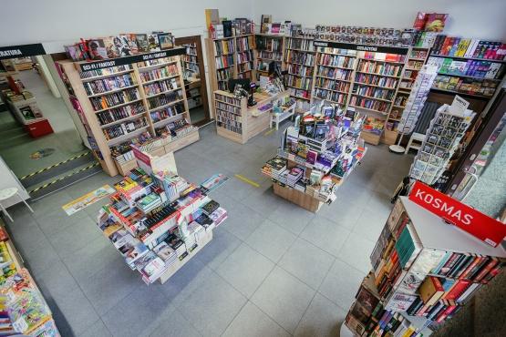 Knihkupectví Praha - Smíchov - interiér