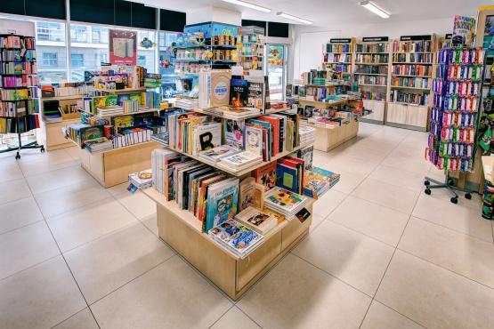 Knihkupectví Zlín - interiér